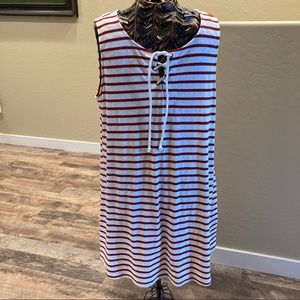 Tank dress with rope front by About a Girl XL